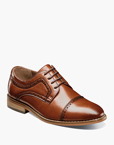 Boys Dickinson Cap Toe Oxford in Cognac for $80.00